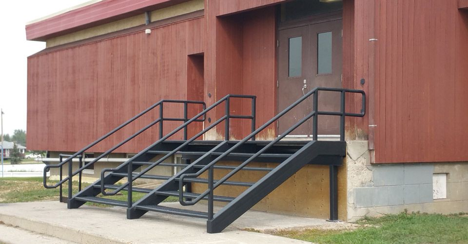Custom Stairs for a School